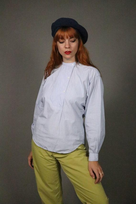 1970's Pin Striped Blue KENZO Shirt - Size S - M - image 3