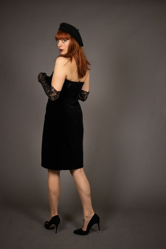 1980's Bustier Cocktail Dress - 1980's Evening be… - image 7