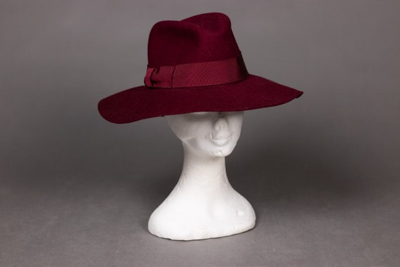 1970's Purple Felt Fedora Hat - 1970's Purple Woo… - image 1