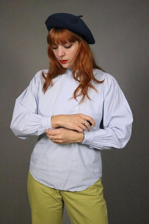 1970's Pin Striped Blue KENZO Shirt - Size S - M - image 2