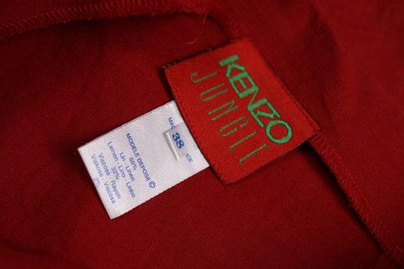 1980/'s Red Lin KENZO Skirt