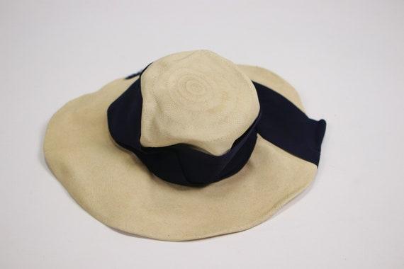 1940's Side Summer Straw Hat - image 7