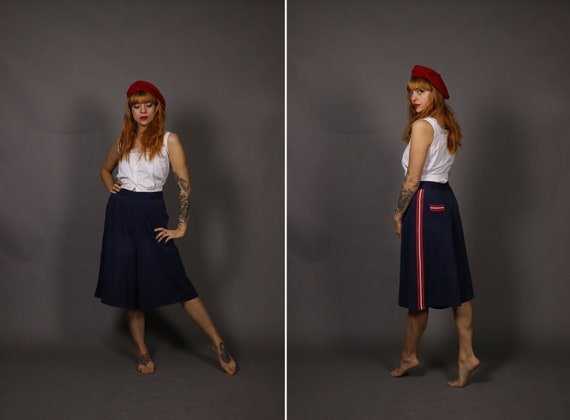 1930's Blue and Red Beach Pants - 30's Beach Pajam