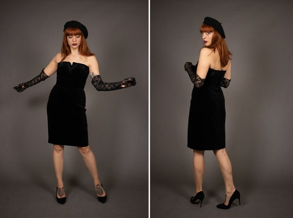 1980's Bustier Cocktail Dress - 1980's Evening be… - image 1