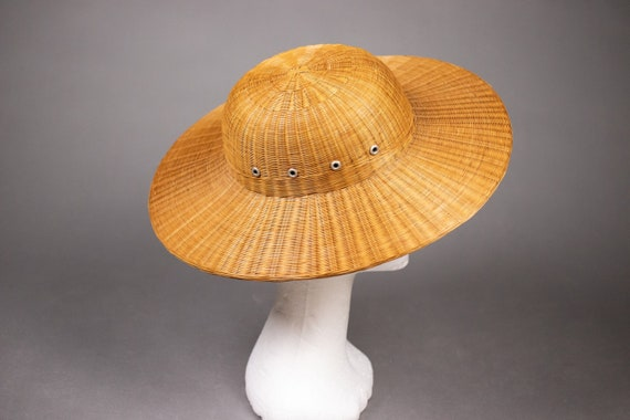 1940's Colonial hat sturdy straw hat - 1940's Col… - image 5