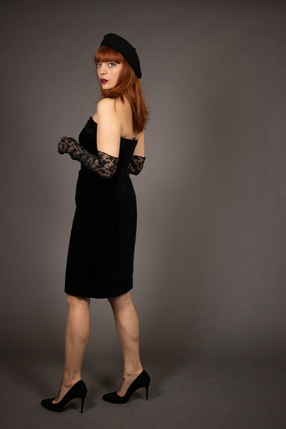 1980's Bustier Cocktail Dress - 1980's Evening be… - image 6