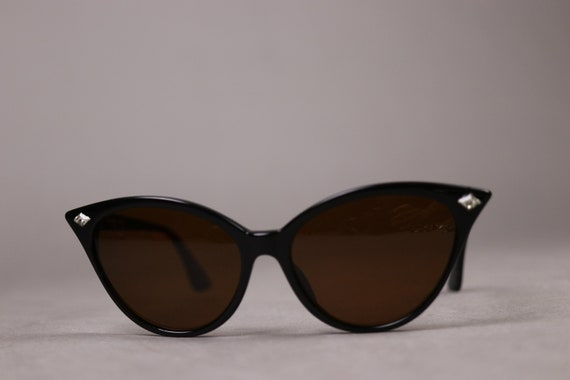 "Rare 1980s PATRICK KELLY ""Penguin"" Black Sunglasse"