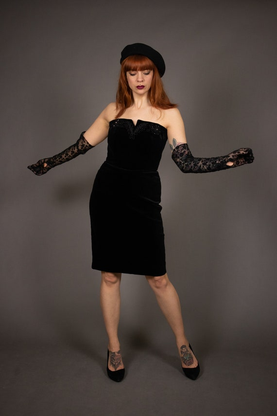 1980's Bustier Cocktail Dress - 1980's Evening be… - image 8
