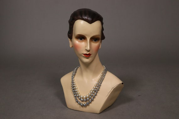 1930's Real Pearl 3 Rows Necklace - 30's Brass an… - image 2