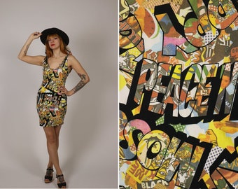 RARE AND Collector MOSCHINO Pills and thrills 90s bodycon Dress