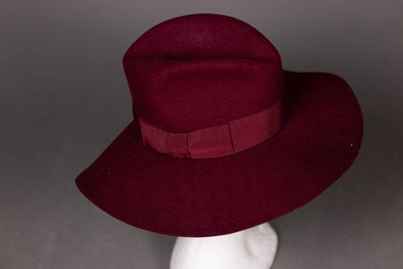 1970's Purple Felt Fedora Hat - 1970's Purple Woo… - image 7
