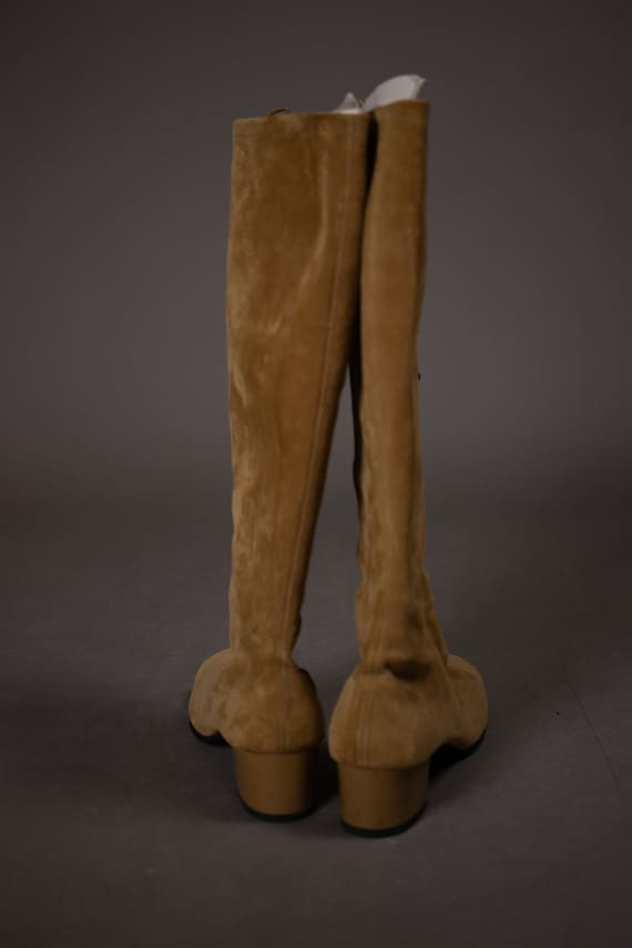 1960's HUSH PUPPIES Tan Suede Leather Gogo Boots … - image 5
