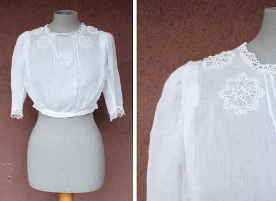 1900's Victorian Thin Cotton Blouse - Victorian Em