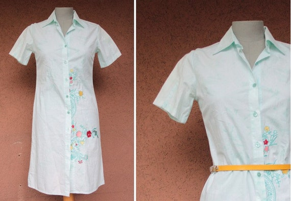 Vintage 1990's Kenzo Shirt Dress