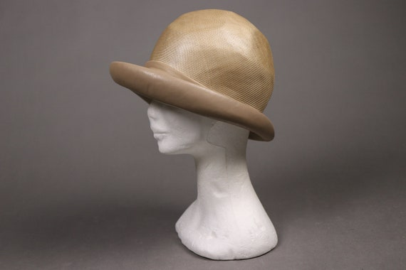 1920's Straw and leather Summer Cloche Hat -  20'… - image 6
