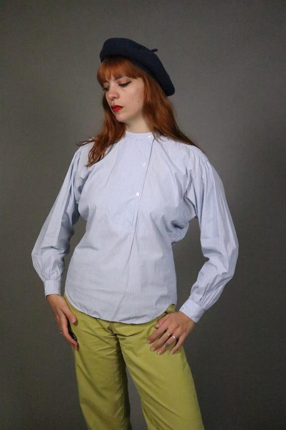 1970's Pin Striped Blue KENZO Shirt - Size S - M - image 4