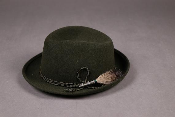 1960's ZINAL SPORT Hunting Green Fedora Hat - 60'… - image 5