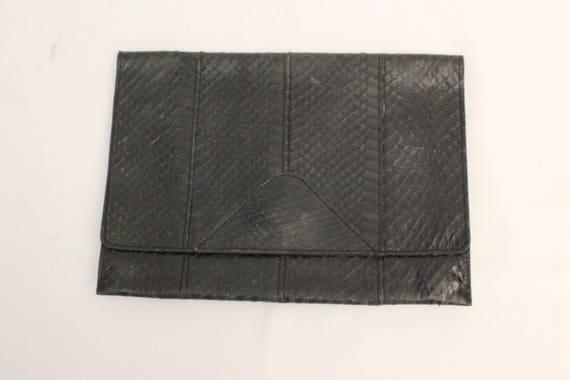 1950's Black pyhton clutch