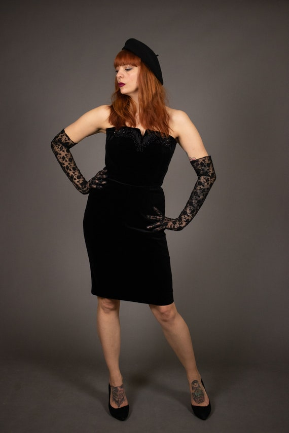1980's Bustier Cocktail Dress - 1980's Evening be… - image 3