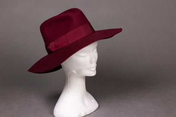 1970's Purple Felt Fedora Hat - 1970's Purple Woo… - image 3