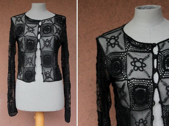 1960's Beaded Opera Cardigan - 60's Embroidered Ca
