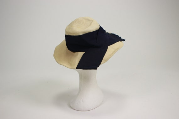 1940's Side Summer Straw Hat - image 2