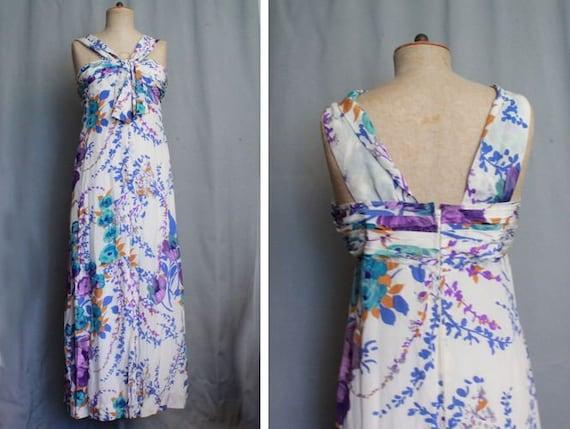1970's Grieder Silk Maxi Dress  -Silk S