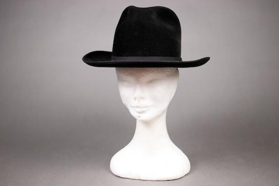 BORSALINO Black Cashemere and Wool Western Hat  -