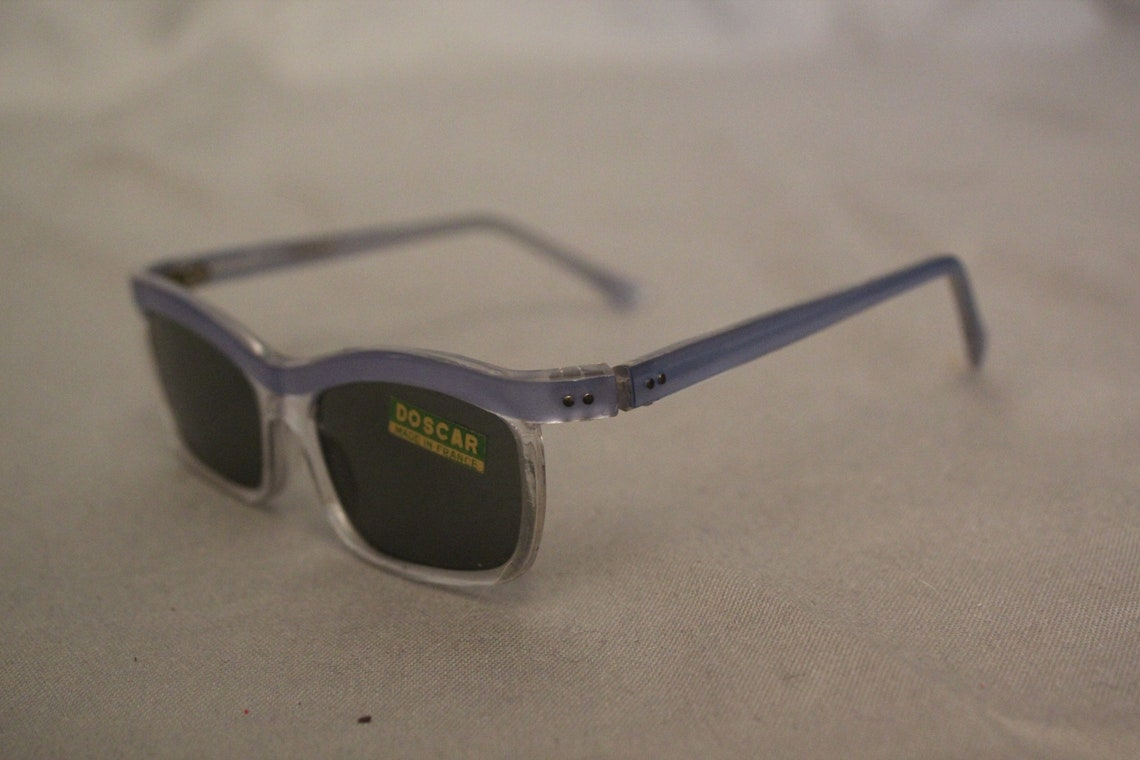 1950's Doscar Pale Blue and Clear Sunglasses Deadstock