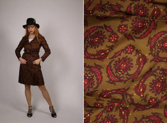 1960's Indian Paisley Silk Suit - 60s Blouse and S