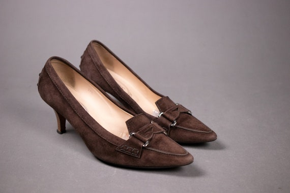 Tod's Brown Suede Leather Moccasin - Tod's Pumps