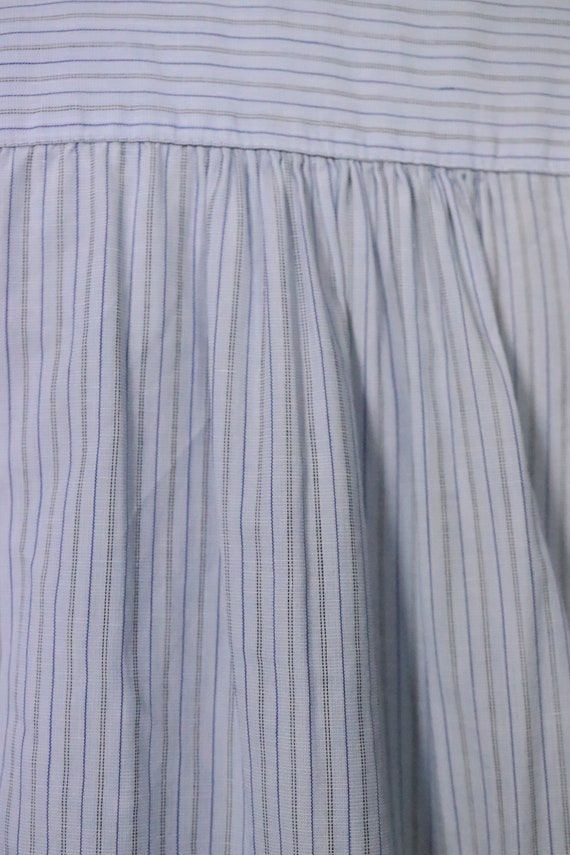 1970's Pin Striped Blue KENZO Shirt - Size S - M - image 8