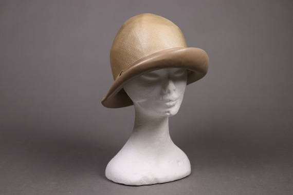 1920's Straw and leather Summer Cloche Hat -  20'… - image 4