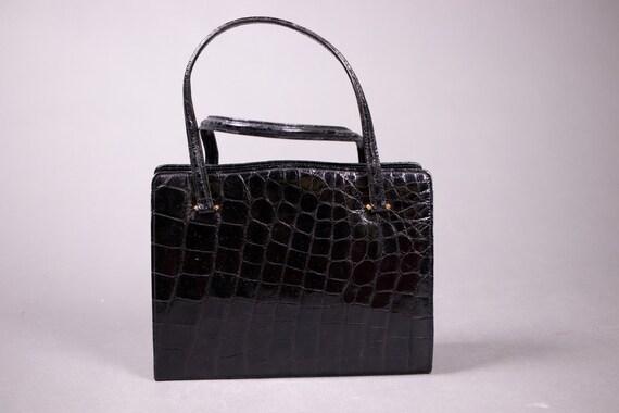 1950's Black Exotic skin Kelly Bag - 50's Black To