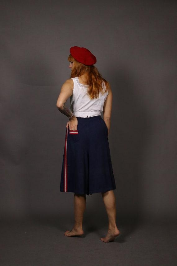 1930's Blue and Red Beach Pants - 30's Beach Paja… - image 4