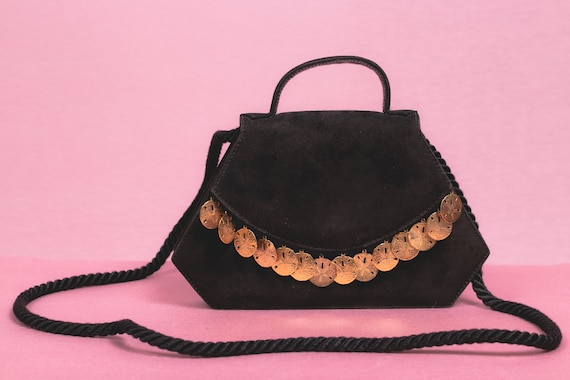 1990's SONIA RYKIEL Black Evening Bag - Sonia Ryki
