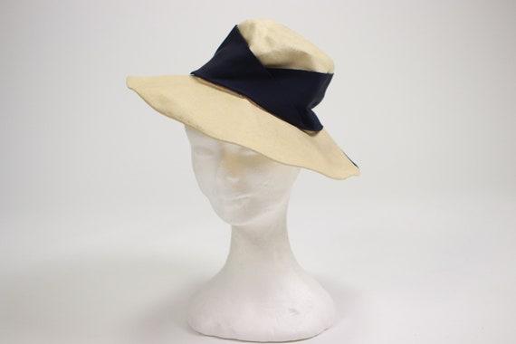 1940's Side Summer Straw Hat - image 5