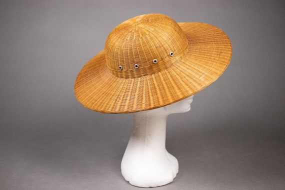 1940's Colonial hat sturdy straw hat - 1940's Col… - image 4