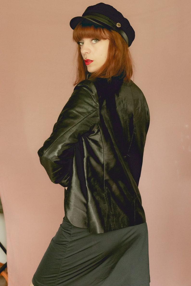 ON SALE 15/% 1990/'s JIL Sander Black Wool and Silk Blazer Jacket Size S