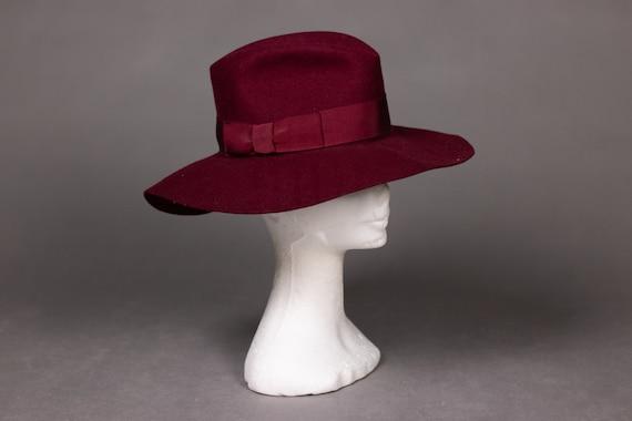 1970's Purple Felt Fedora Hat - 1970's Purple Woo… - image 5