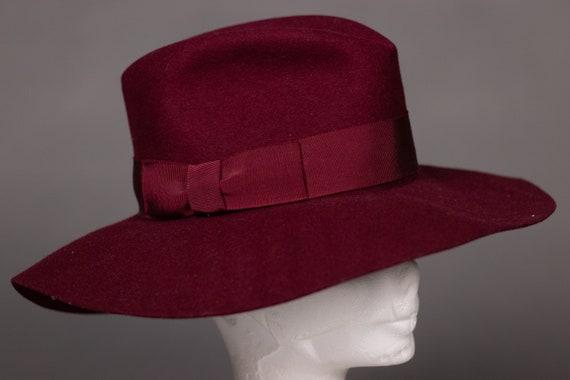 1970's Purple Felt Fedora Hat - 1970's Purple Woo… - image 6