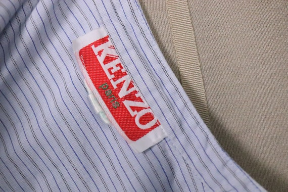 1970's Pin Striped Blue KENZO Shirt - Size S - M - image 7