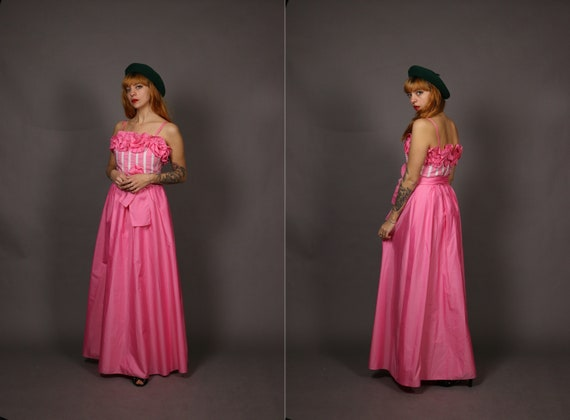 1980's Pink VERA MONT PArty Dress - Vera Monte Pin