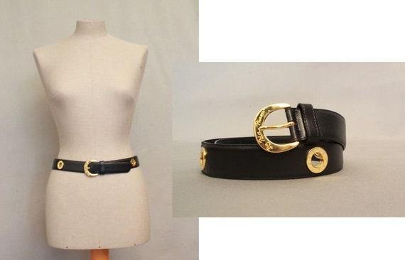 10e089b7b Luxury PALOMA PICASSO Dark Blue and Gold Belt / L 80 Size S | Etsy