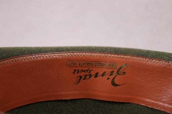 1960's ZINAL SPORT Hunting Green Fedora Hat - 60'… - image 8