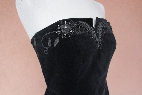 1980's Bustier Cocktail Dress - 1980's Evening be… - image 2