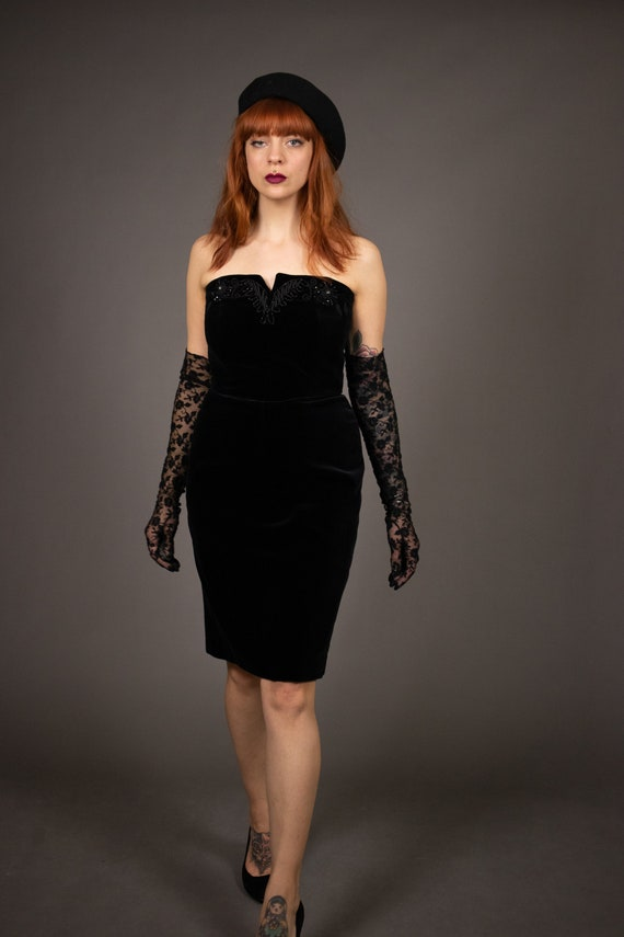 1980's Bustier Cocktail Dress - 1980's Evening be… - image 10