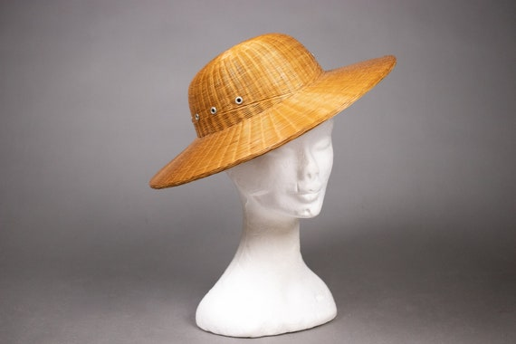 1940's Colonial hat sturdy straw hat - 1940's Col… - image 6