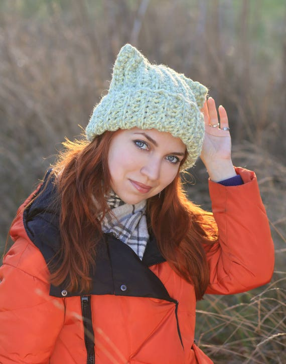 Pussy-Hat cat orange Women/'s Hat Winter Fall Ski Woman Beanie one size
