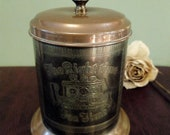 Vintage 1950 39 s Brass and Copper Tea Time Tea Caddy